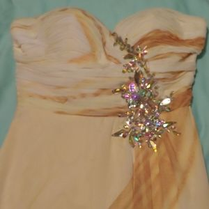 Like new beautiful ladies gown, multi colors